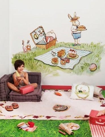 Mural Coordonné Bunnys Day...