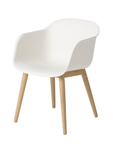 Cadeira Muuto Fiber Wood base